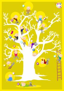 poster arbre à personnage